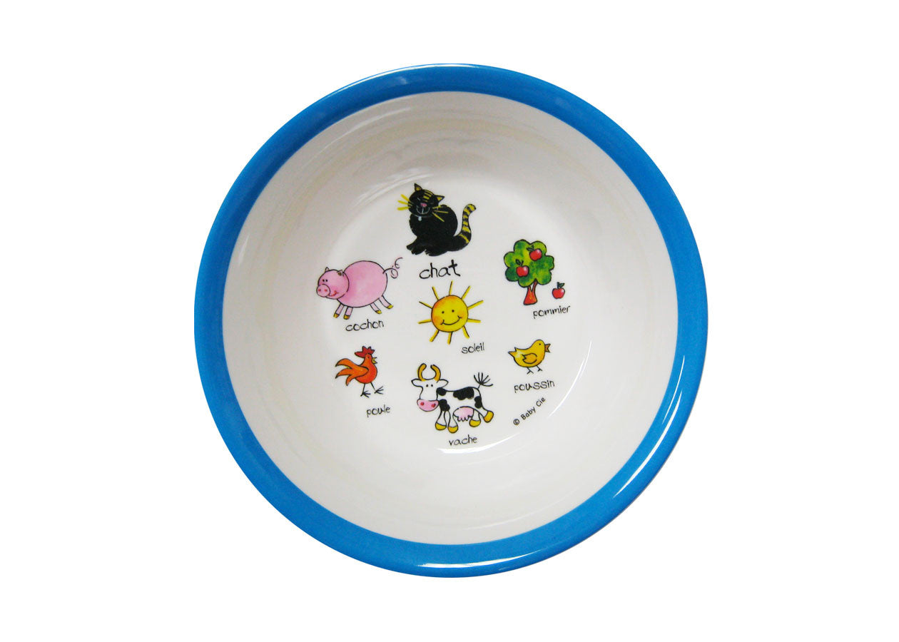 ... Farm Animals Melamine Baby Dinnerware 4pcs ...  sc 1 st  Gore Dean & Farm Animals Melamine Baby Dinnerware 4pcs - GORE DEAN HOME