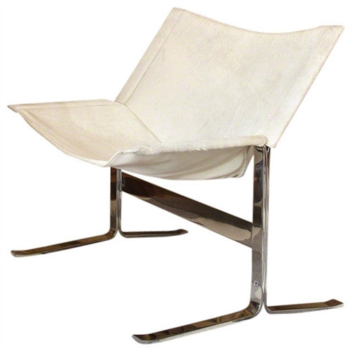 Global Views Cantilever Chair- White - GDH | The decorators department Store - 1