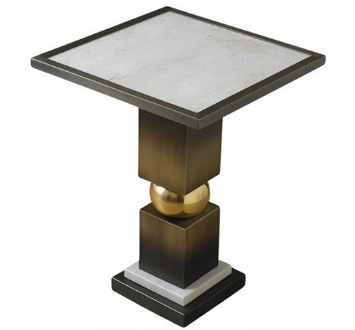 Global Views | Squeeze Side Table-Bronze - GDH | The decorators department Store