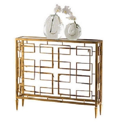 Global Views Open Block Console - Gold - GDH | The decorators department Store