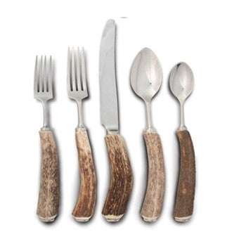 Natural Antler Handle Flatware Set - GDH | The decorators department Store