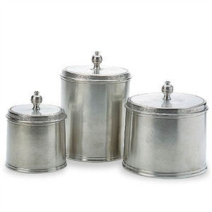 Match Pewter Pewter Canisters - GDH | The decorators department Store