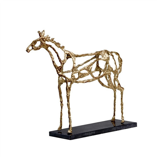 Arabian Horse Statue, Gold - GDH | The decorators department Store