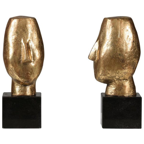 Alberto Statue Set of 2 in Gold - GDH | The decorators department Store