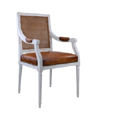 Augusta Armchair by Bungalow 5 | White - GDH | The decorators department Store