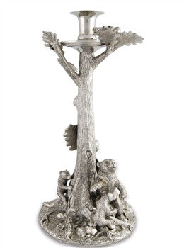 Pewter Bear Mom and Cubs Candlestick - GDH | The decorators department Store