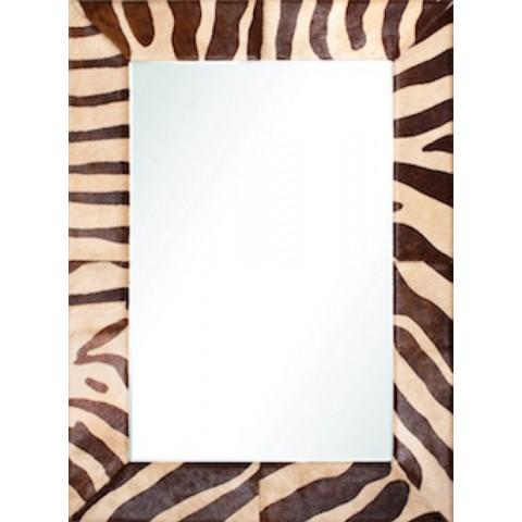 Beige & Chocolate Mirror by Barclay Butera