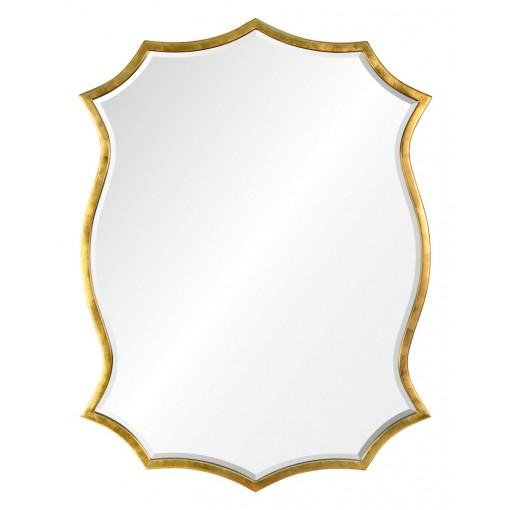 Burnished Gold Leaf Iron Mirror by Barclay Butera