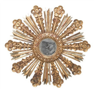Bella Leaf Sunburst Mirror - Gold - GDH | The decorators department Store
