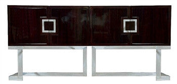 Braxton Rosewood Console in Stainless Steel - GDH | The decorators department Store
