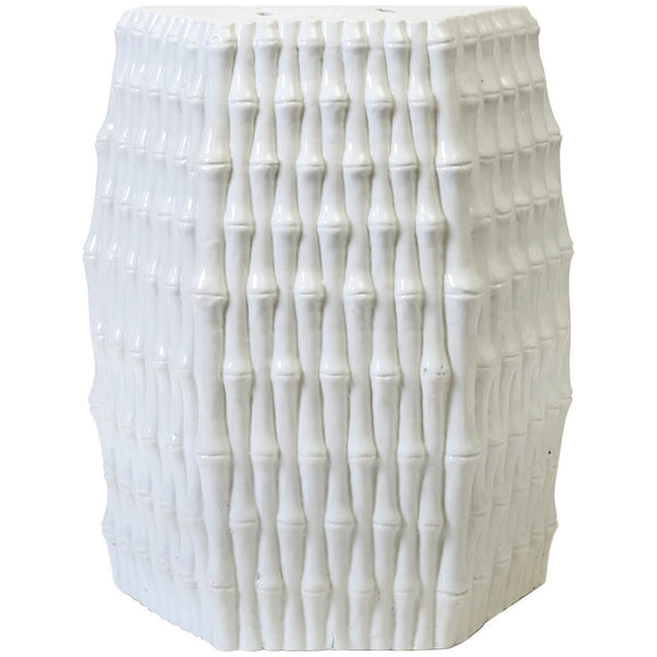 Burma Stool/Side Table in White - GDH | The decorators department Store