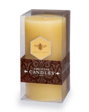 "Pillar Candle 6"" - Beeswax Natural- - GDH 
