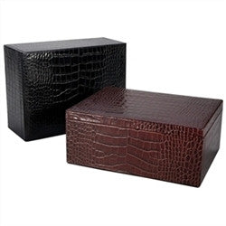 Large Box in Crocodile Embossed Leather - GDH | The decorators department Store