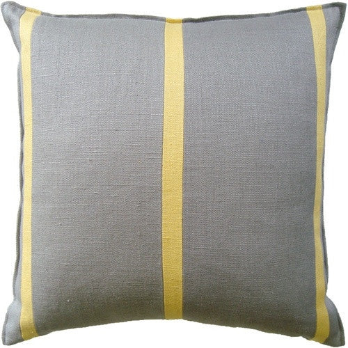 Grey Slubby Linen Blake (22 x 22) - GDH | The decorators department Store