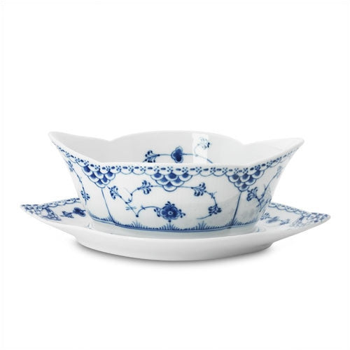 Blue Fluted Half Lace 13.5 oz. Sauce Boat - GDH | The decorators department Store