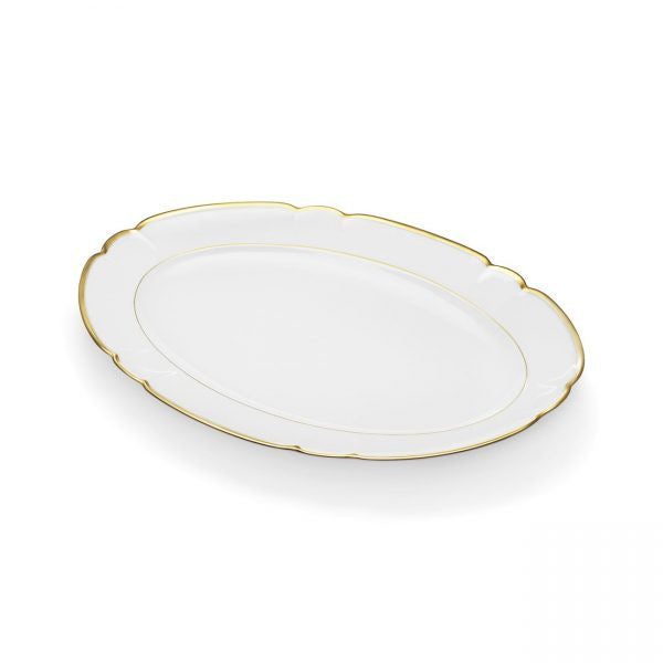 "Colette Gold 16"" Platter by R Haviland and C Parlon - GDH 