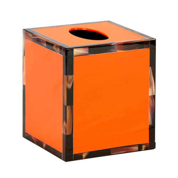 CHEVAL TISSUE BOX, ORANGE - GDH | The decorators department Store