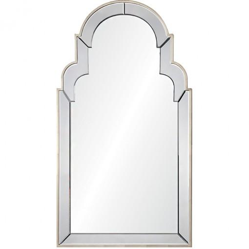 Aged Silver Leaf Queen Anne mirror by Celerie Kemble