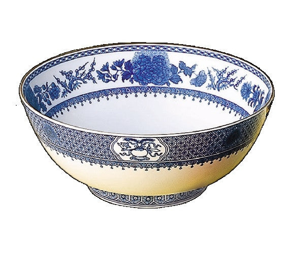 Mottahedeh Imperial Blue Salad Bowl - GDH | The decorators department Store