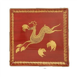 Mottahedeh Leaping Reindeer Canape Plate - GDH | The decorators department Store