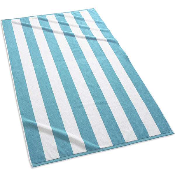 Cabana Stripe Beach Towels | Aqua