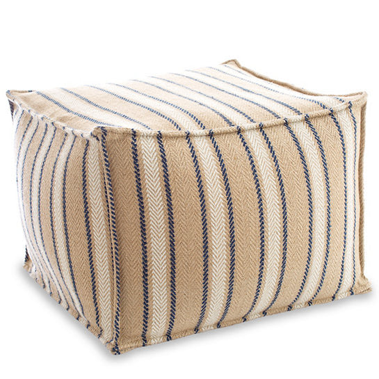 Cambridge Navy Indoor/Outdoor Pouf - GDH | The decorators department Store
