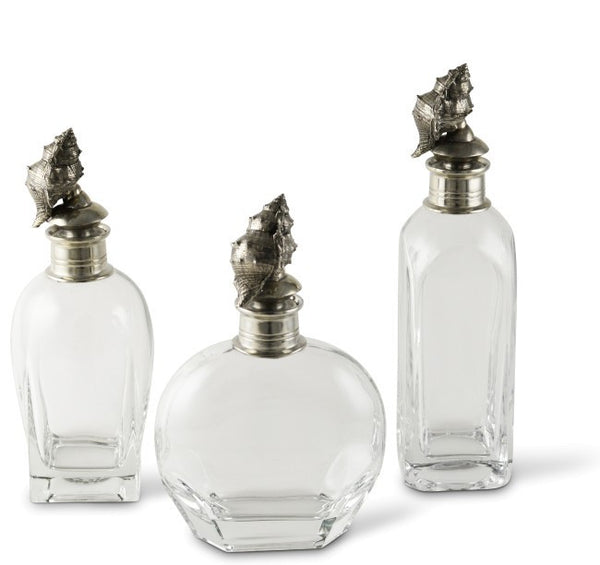 Pewter Conch Shell Liquor Decanters - GDH | The decorators department Store