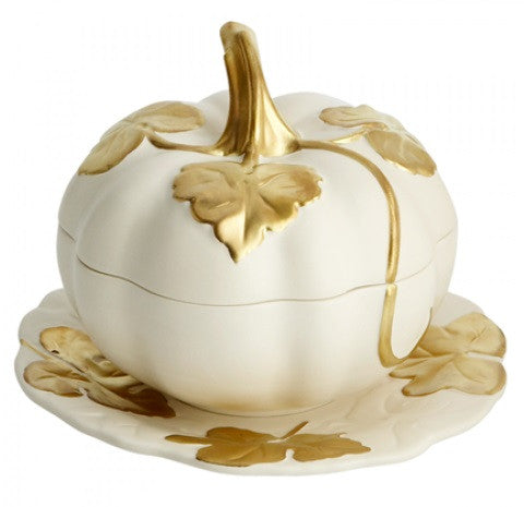 Mottahedeh Melon Individual Tureen and Stand - GDH | The decorators department Store