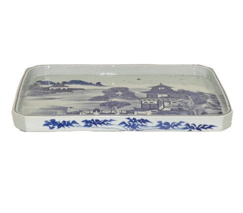 Blue and White Porcelain Tray - GDH | The decorators department Store