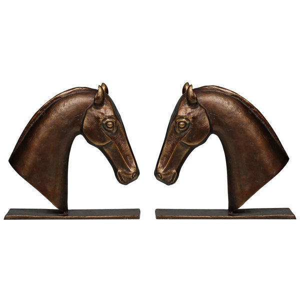 Derby Bookends Set of 2 in Bronze - GDH | The decorators department Store