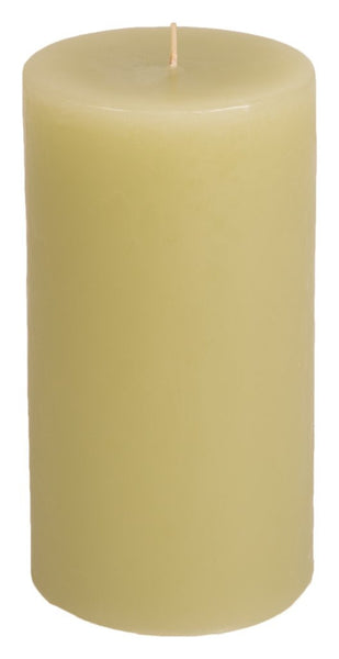 Classic Hurricane Pillar Candles (Pair) | Desert Olive