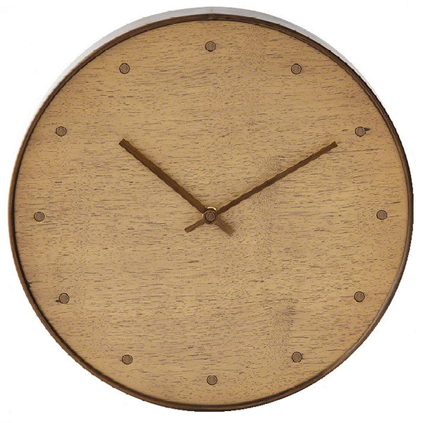 Wall Clock-Bleached Walnut by Barbara Barry