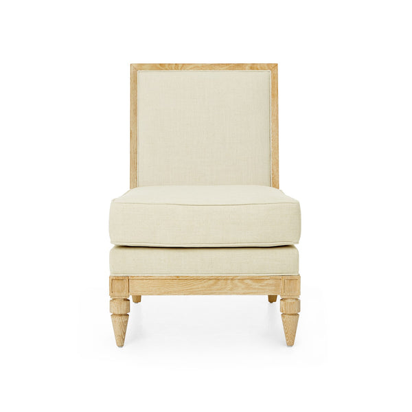 DEVON SLIPPER CHAIR, NATURAL