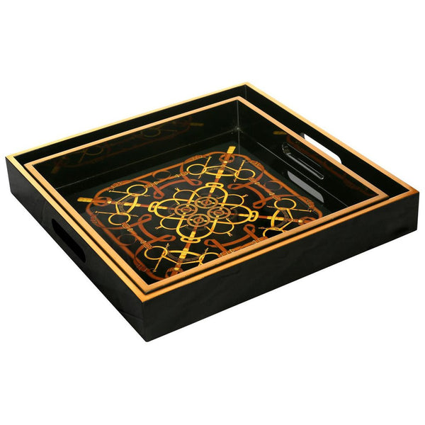 Bungalow 5 Dressage Square Nesting Trays in Black