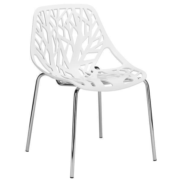 Birds Nest Dining Side Chair| White