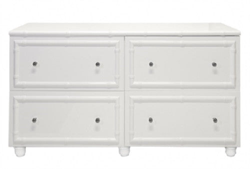 Emma 4-Drawer Lacquered Chest | White - GDH | The decorators department Store