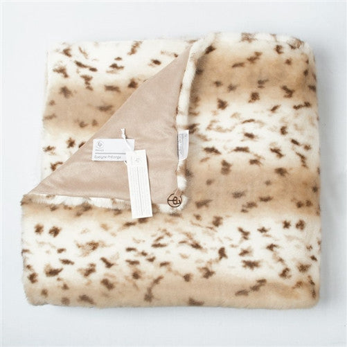 Lynx Faux Fur Throw by Evelyne Prelonge - GDH | The decorators department Store