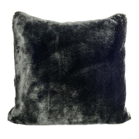 Faux Fur Pillow | Black - GDH | The decorators department Store
