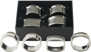 Vagabond House | Boxed Set of 4 Pewter Napkin Rings - GDH | The decorators department Store
