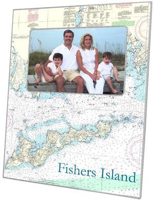 Fisher's Island Nautical Chart Picture Frame