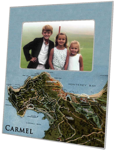 Carmel, California Map Picture Frame