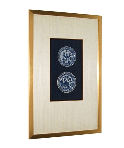 Framed Hand Painted Season Pates - GDH | The decorators department Store