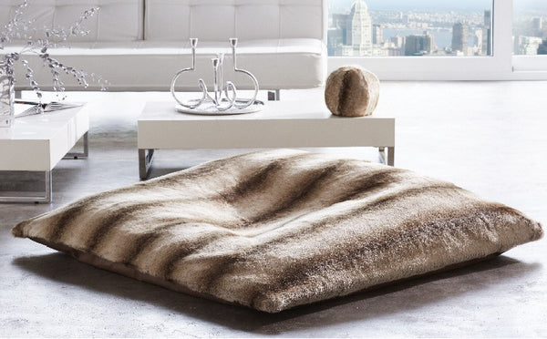 Faux Fur Floor Pillow - GDH | The decorators department Store - 1