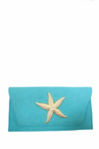 Felt Clutch-XL Motif | Starfish