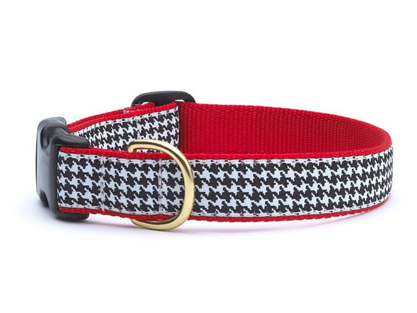 Classic Black Houndstooth Dog Collar - GDH | The decorators department Store