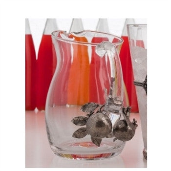 Orange Blossoms Pewter and  Glass Pitcher - GDH | The decorators department Store
