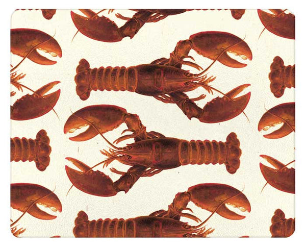 Cooked Lobsters Glass Cutting Board