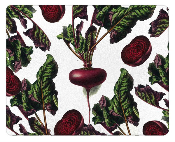 Vintage Beets Glass Cutting Board
