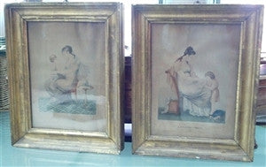 Pair of 19th C French Prints in Gilt frames - GDH | The decorators department Store