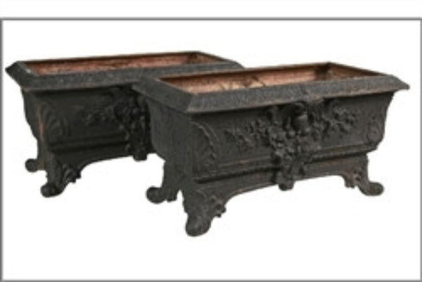 Pair of Antique Planting Troughs by J W Fiske - GDH | The decorators department Store